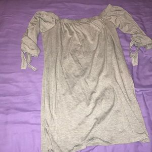 Gray off the shoulder dress NEW WITH TAGS